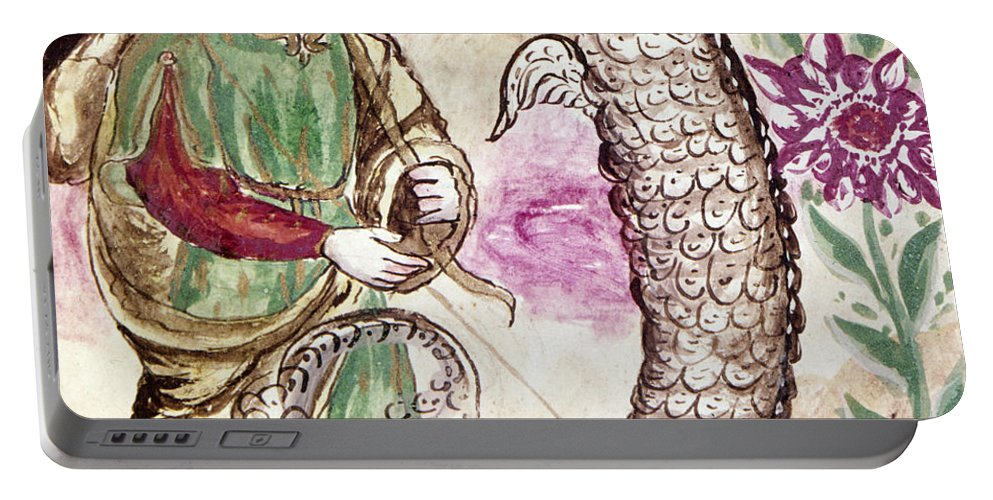 18th Century Portable Battery Charger featuring the photograph Jesus And Serpent by Granger
