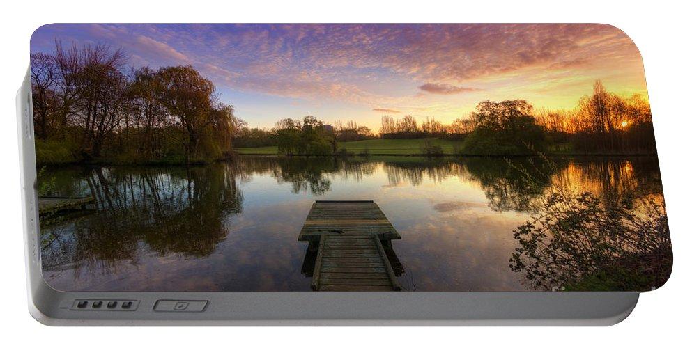 Yhun Suarez Portable Battery Charger featuring the photograph Jetty Sunrise 4.0 by Yhun Suarez