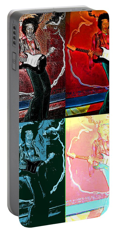Jimmy Hendrix Portable Battery Charger featuring the photograph Jimmy Hendrix Pop by Tommy Anderson