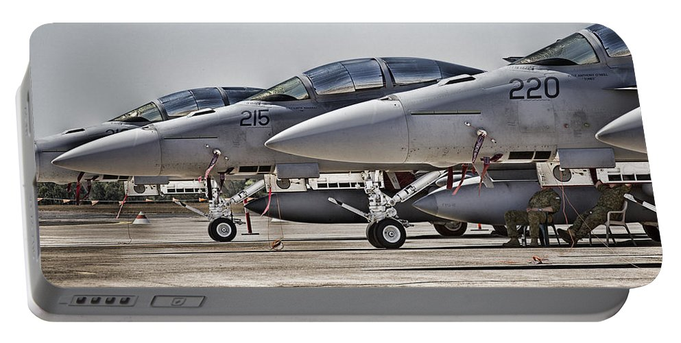 Boeing F/a-18e/f Super Hornets Portable Battery Charger featuring the photograph Joint Operations Squadron V3 by Douglas Barnard