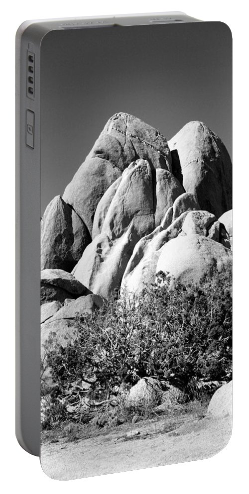 Joshua Tree Portable Battery Charger featuring the photograph Joshua Tree Center Bw by William Dey