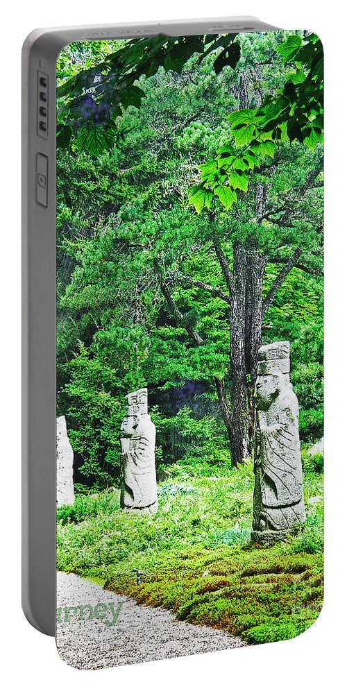 Oriental Garden Portable Battery Charger featuring the digital art Journey by Lizi Beard-Ward