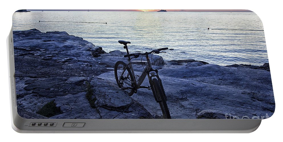 Bike Portable Battery Charger featuring the photograph Journey's End by Madeline Ellis