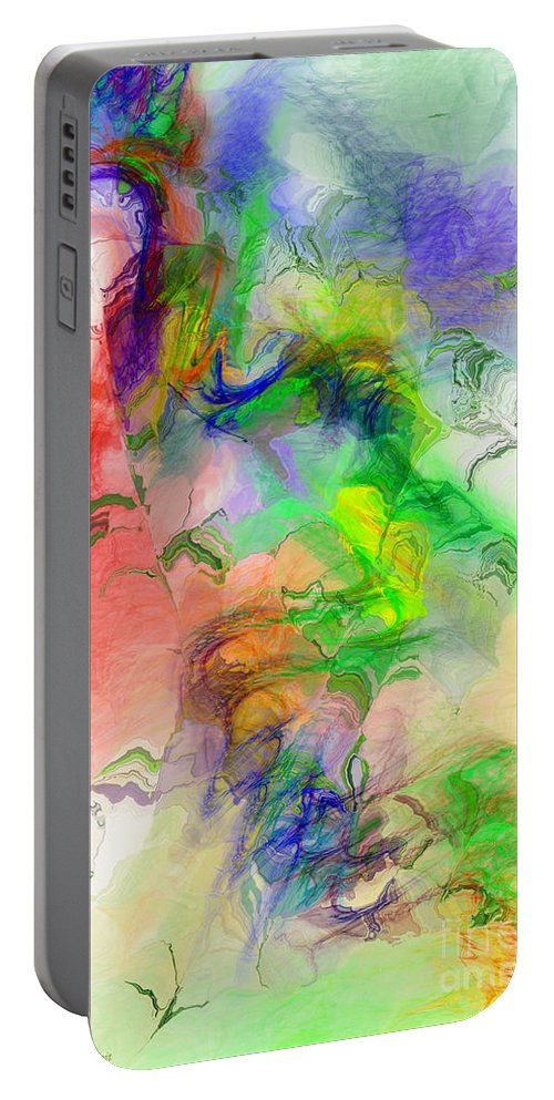 Abstract Portable Battery Charger featuring the digital art Joy Of Life by Deborah Benoit
