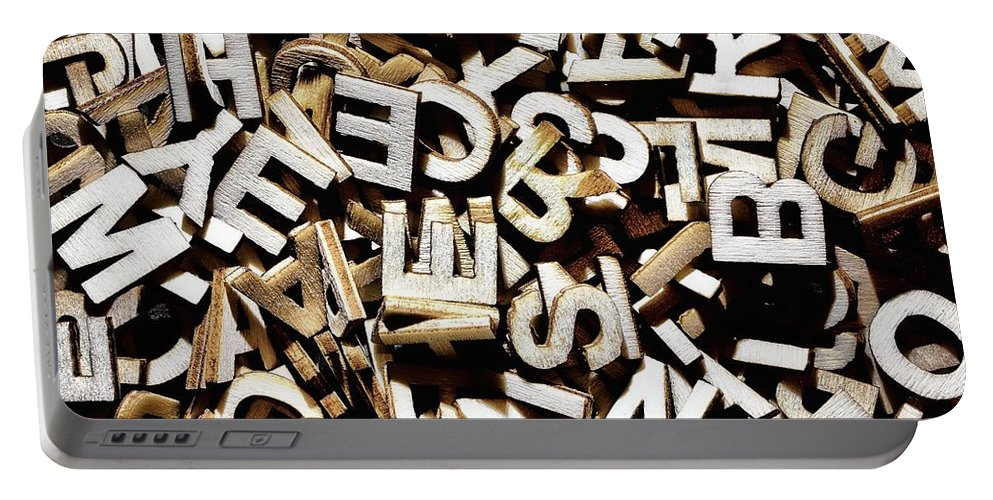 Letters Portable Battery Charger featuring the photograph Jumbled Letters by Simon Bratt Photography LRPS