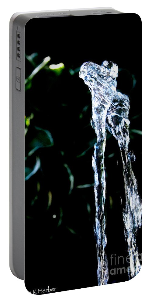 Water Portable Battery Charger featuring the photograph Jumping Water by Susan Herber