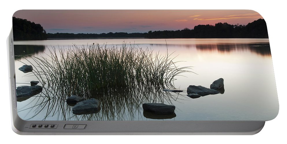 Glass Portable Battery Charger featuring the photograph Just Another Sunset by Edward Kreis