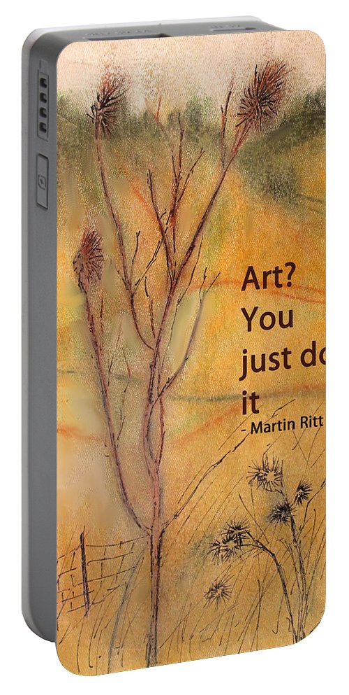 Art Portable Battery Charger featuring the drawing Just Do It by Ian MacDonald