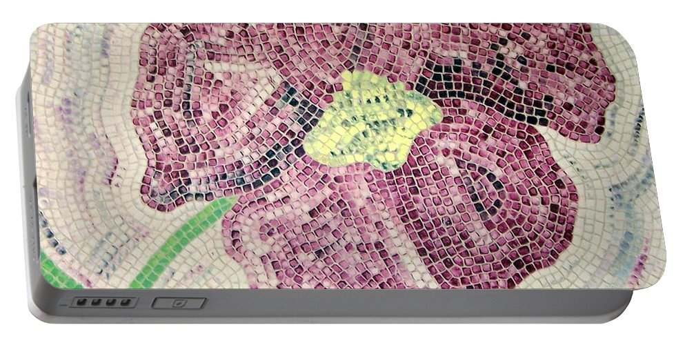 Original Portable Battery Charger featuring the painting Just One by Cynthia Amaral