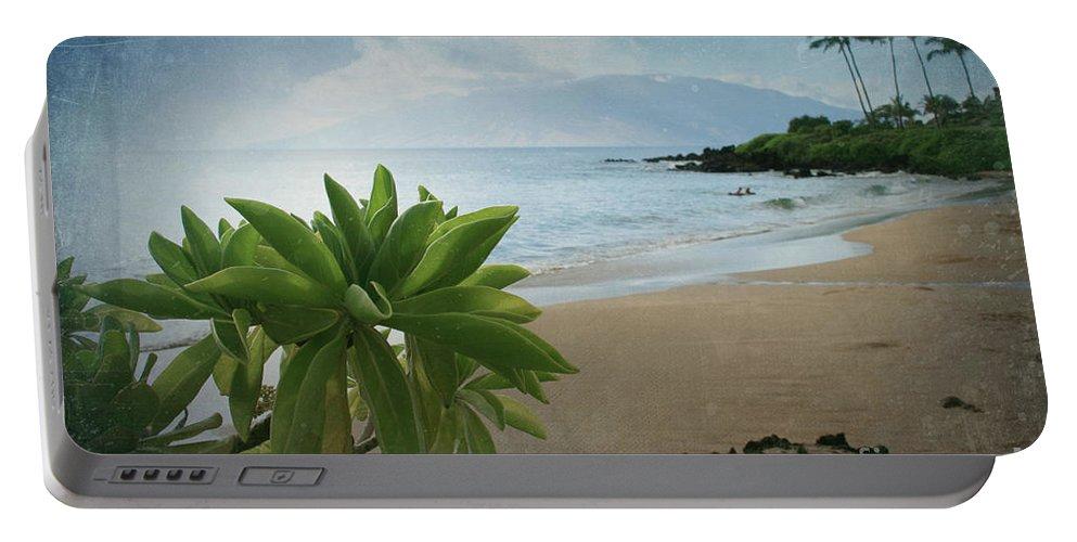 Aloha Portable Battery Charger featuring the photograph Ka Makani Olu Olu - Polo Beach Maui Hawaii by Sharon Mau