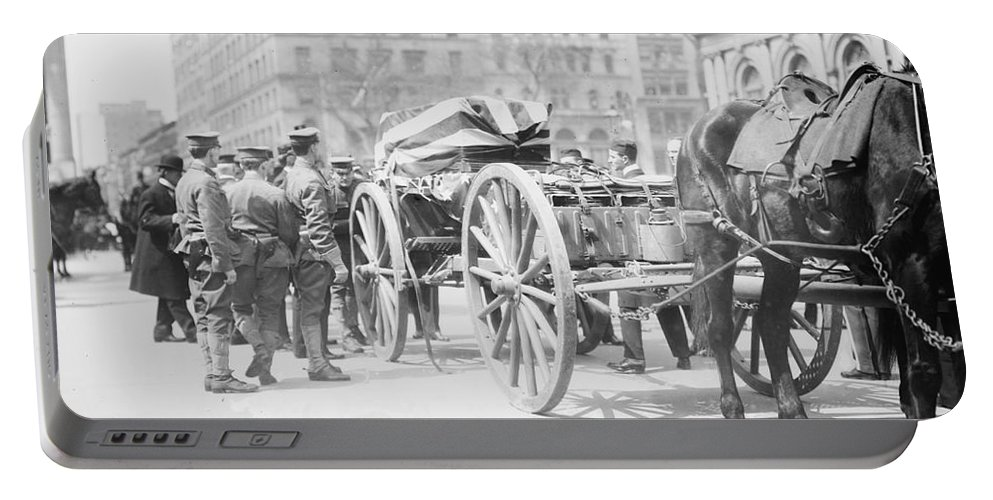 1912 Portable Battery Charger featuring the photograph Kearny Reinterment, 1912 by Granger