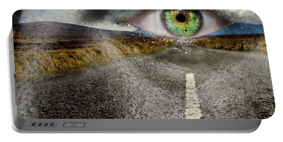 Art Portable Battery Charger featuring the photograph Keep Your Eyes On The Road by Semmick Photo