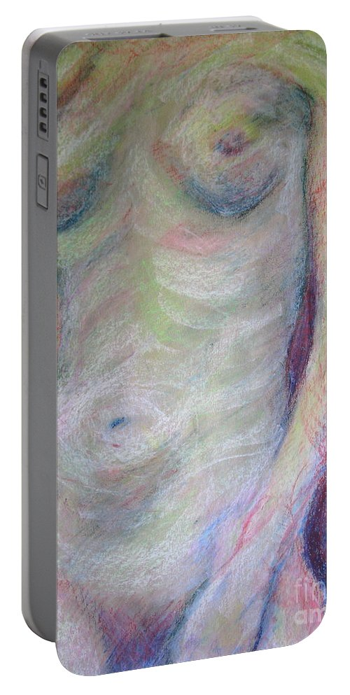 Figure Portable Battery Charger featuring the pastel Kinetic by Rory Sagner