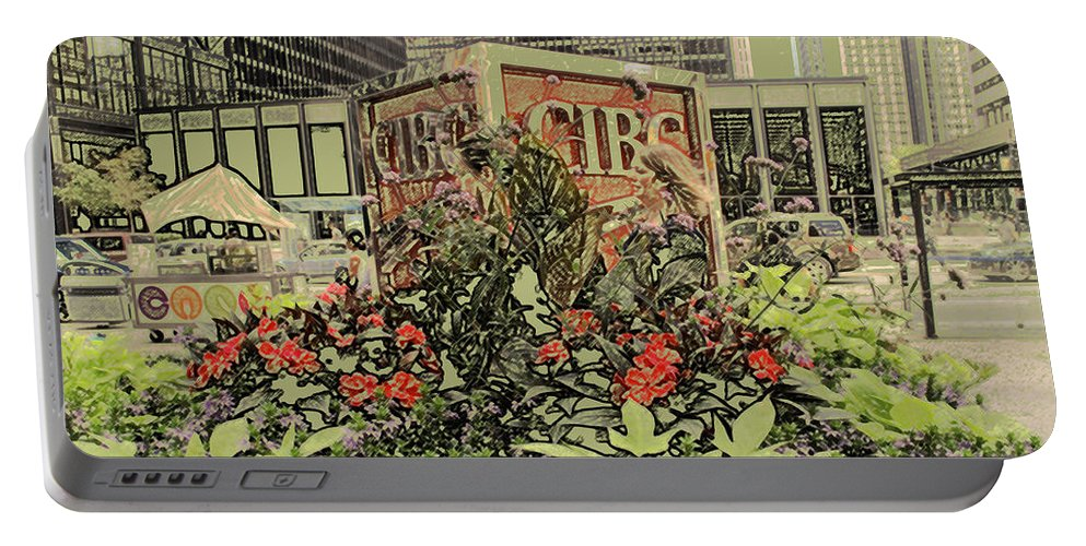 King Street Portable Battery Charger featuring the photograph King And Bay Streets by Ian MacDonald