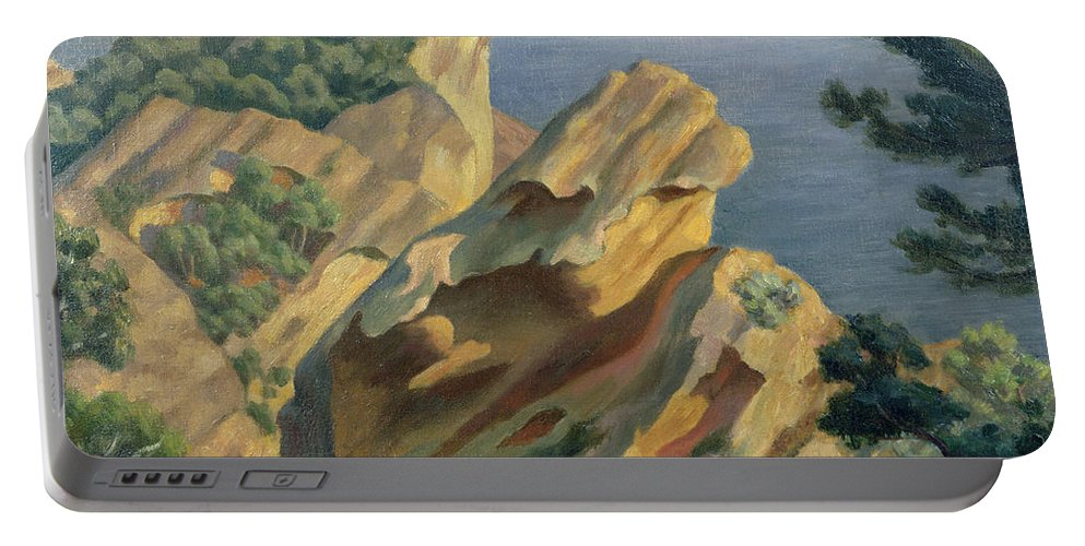 La Ciotat Portable Battery Charger featuring the painting La Ciotat Near Marseilles by Roger Eliot Fry