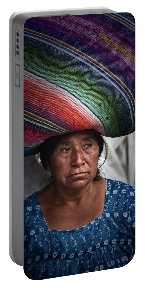 Guatemala Portable Battery Charger featuring the photograph Lady With A Load by Tom Bell