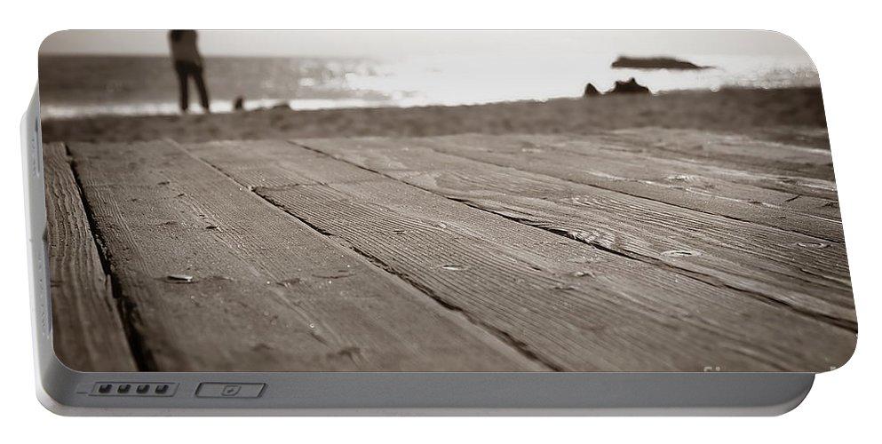 Beach Portable Battery Charger featuring the photograph Laguna Beach Walk by Henrik Lehnerer