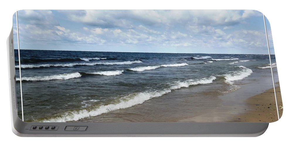 Evangola State Park Portable Battery Charger featuring the photograph Lake Erie At Evangola State Park by Rose Santuci-Sofranko