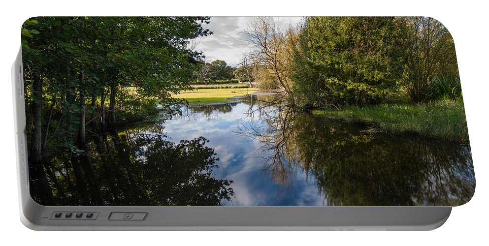 Bough Beech Portable Battery Charger featuring the photograph Lake Reflections by Dawn OConnor