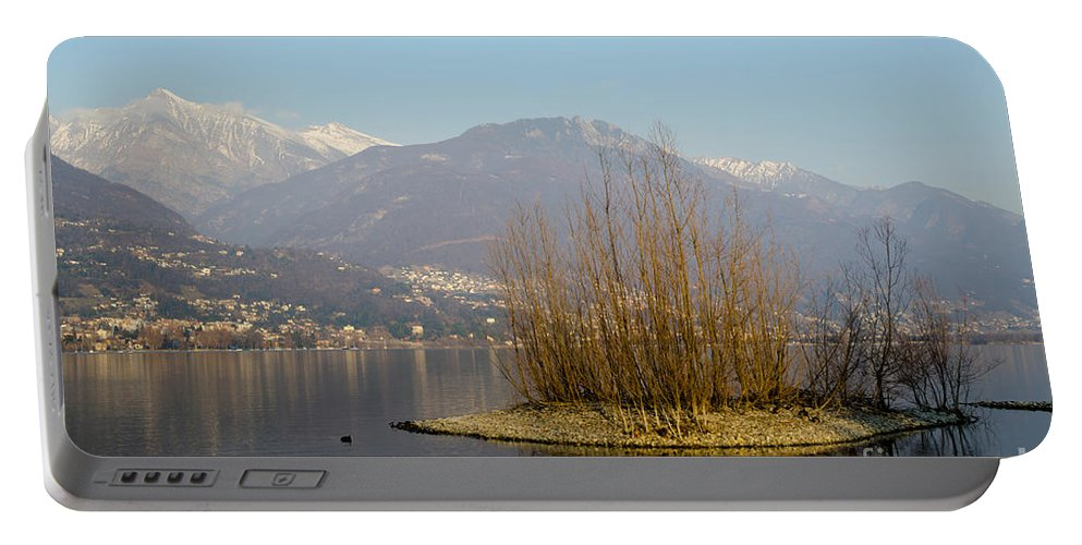 Island Portable Battery Charger featuring the photograph Lake With Island by Mats Silvan