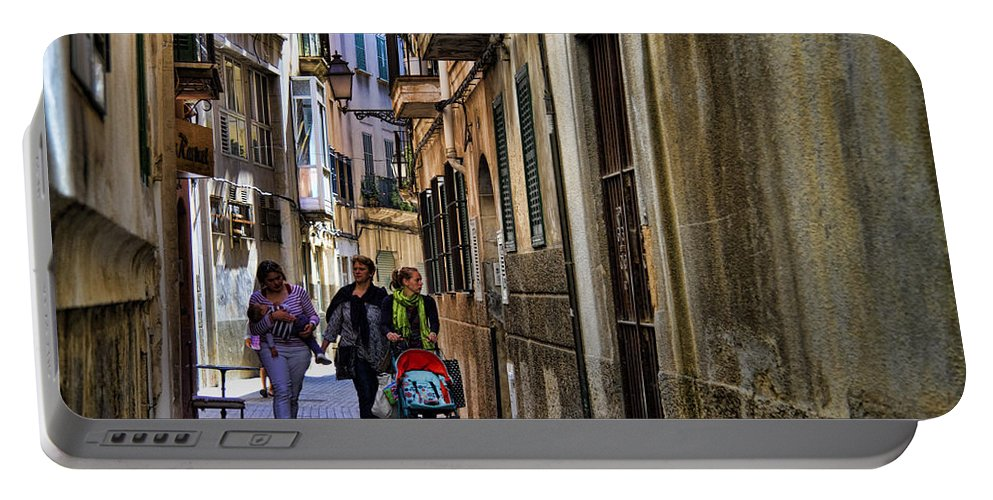 Lane Portable Battery Charger featuring the photograph Lane In Palma De Majorca Spain by David Smith