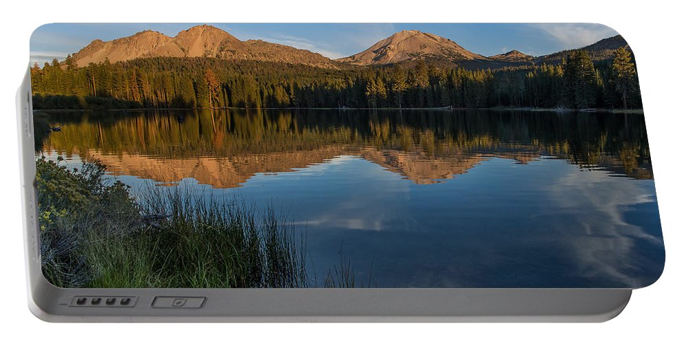 Cascades Portable Battery Charger featuring the photograph Lassen Reflecting 3 by Greg Nyquist