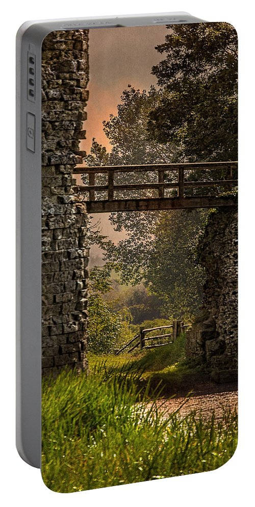 Castle Portable Battery Charger featuring the photograph Last Bridge To Minas Tirith by Chris Lord