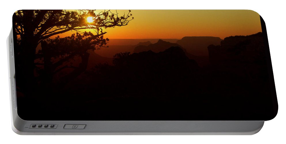 Evening Portable Battery Charger featuring the photograph Last Golden Rays - Grand Canyon by Ellen Heaverlo