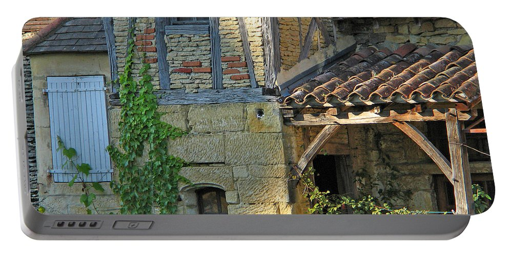 Sarlat Portable Battery Charger featuring the photograph Last Light In Sarlat by Greg Matchick