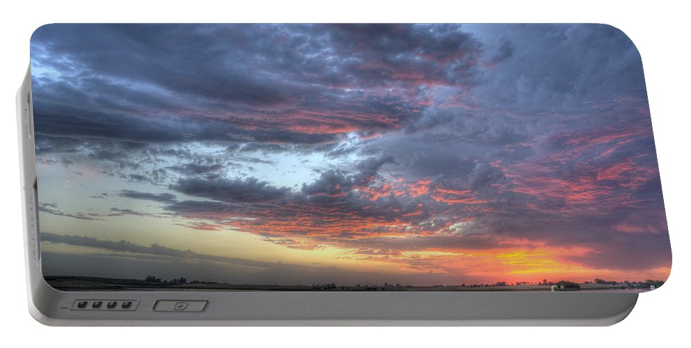 Sunset Portable Battery Charger featuring the photograph Last Light Over The Lake by Jim And Emily Bush
