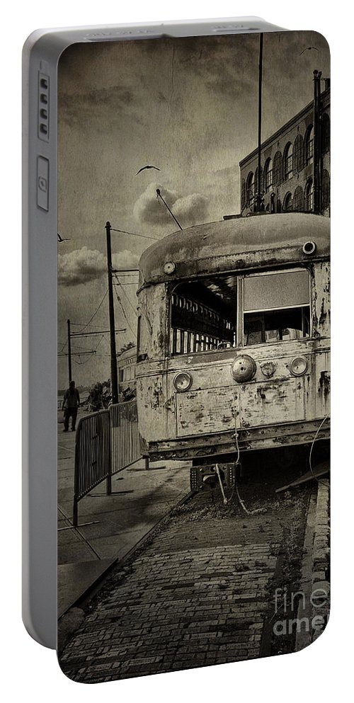 Bus Portable Battery Charger featuring the photograph Last Stop by Madeline Ellis