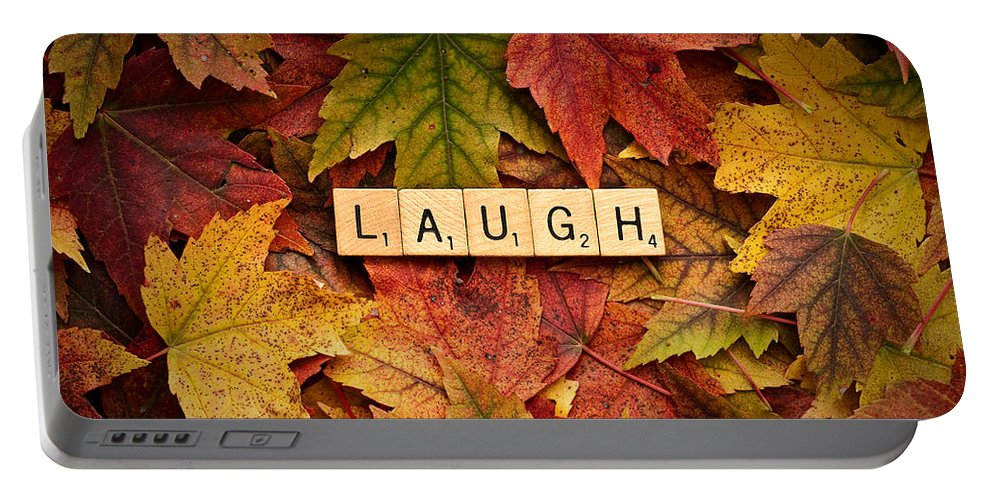 Daniel J. Kmiecik Portable Battery Charger featuring the photograph Laugh-autumn by Onyonet Photo Studios