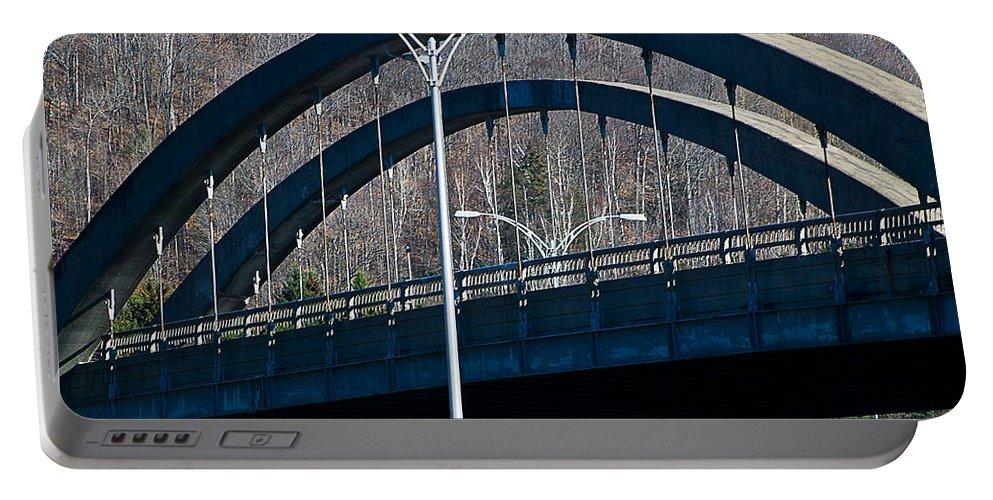 Bridge Portable Battery Charger featuring the photograph Laurentian Bridge by Burney Lieberman