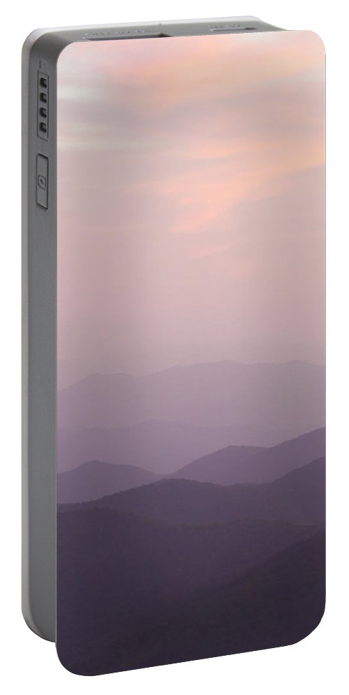 Lavender Portable Battery Charger featuring the photograph Lavender Sunset On The Blue Ridge Parkway by Bill Swindaman