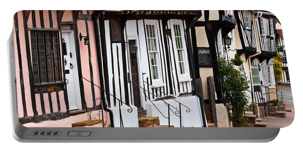 Lavenham Portable Battery Charger featuring the photograph Lavenham Street by Tom Gowanlock