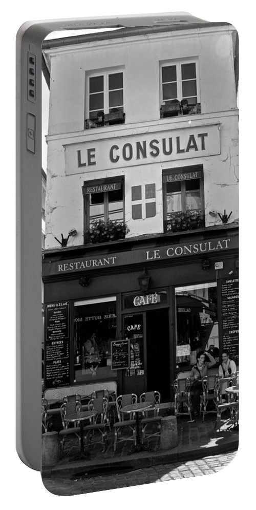 Le Consulat Portable Battery Charger featuring the photograph Le Consulat by Eric Tressler