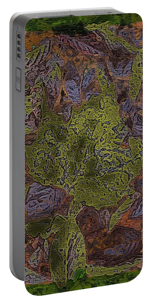 Leaves Portable Battery Charger featuring the digital art Leafy Goodness by Tim Allen