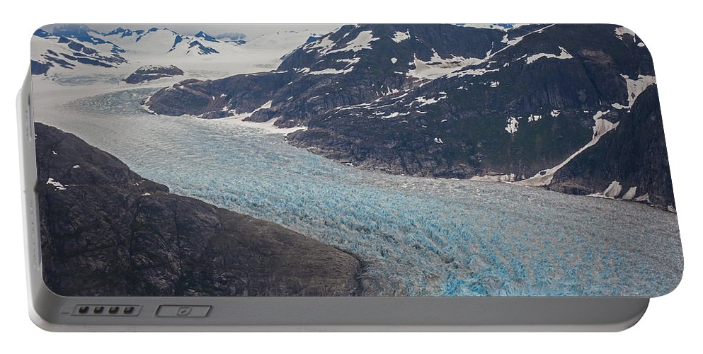 Frederick Sound Portable Battery Charger featuring the photograph Leconte Glacial Flow by Mike Reid