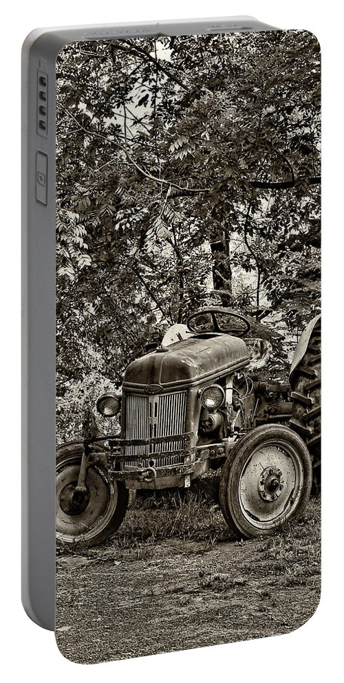 West Virginia Portable Battery Charger featuring the photograph Left Fielder Sepia by Steve Harrington
