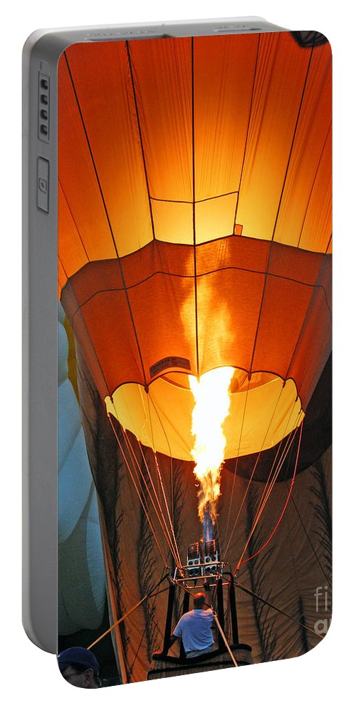 Ascension Parish Balloon Fest Portable Battery Charger featuring the photograph Lets Go Up by Lizi Beard-Ward
