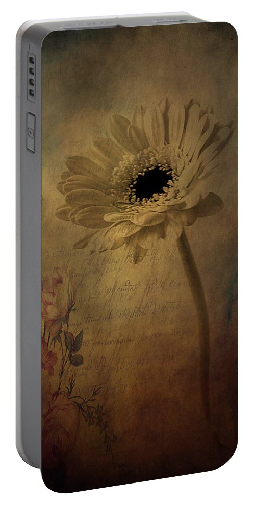 Flowers Portable Battery Charger featuring the photograph Letters To Rose by The Artist Project