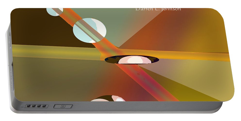 Poster Portable Battery Charger featuring the digital art Letting Go by Ian MacDonald