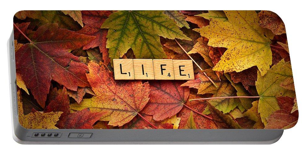 Daniel J. Kmiecik Portable Battery Charger featuring the photograph Life-autumn by Onyonet Photo Studios