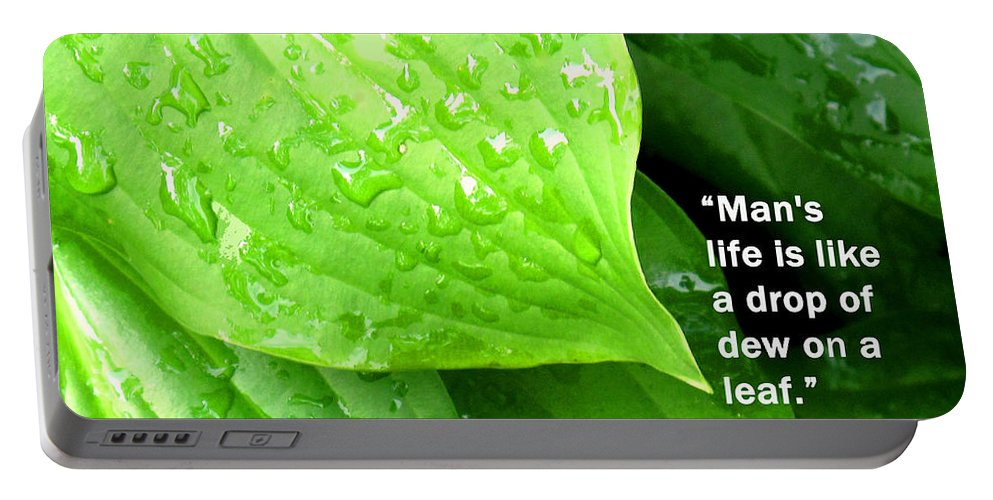 Socratese Portable Battery Charger featuring the photograph Like A Drop Of Dew by Ian MacDonald