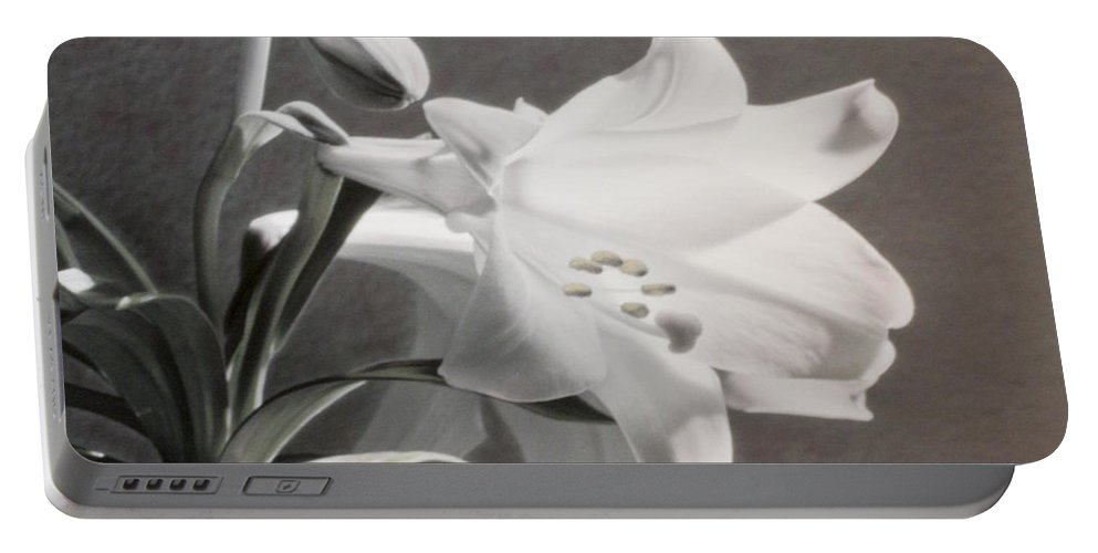 Florals Portable Battery Charger featuring the photograph Lilies by Linda Dunn