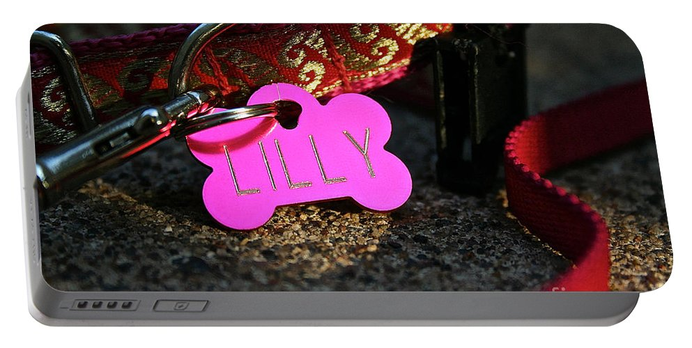 Animal Portable Battery Charger featuring the photograph Lilly Wear by Susan Herber