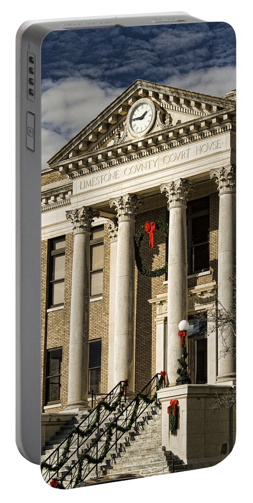 Limestone County Portable Battery Charger featuring the photograph Limestone County Courthouse Alabama by Kathy Clark