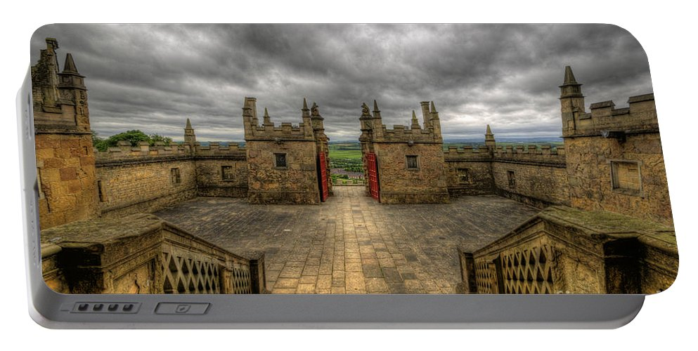 Art Portable Battery Charger featuring the photograph Little Castle Entrance - Bolsover Castle by Yhun Suarez