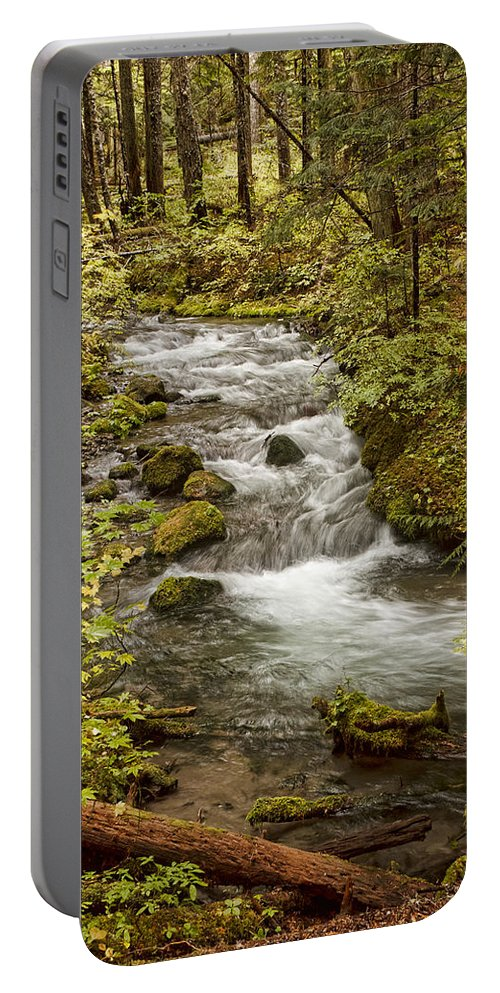Little Zig Zag Stream Portable Battery Charger featuring the photograph Little Zig Zag Stream by Wes and Dotty Weber