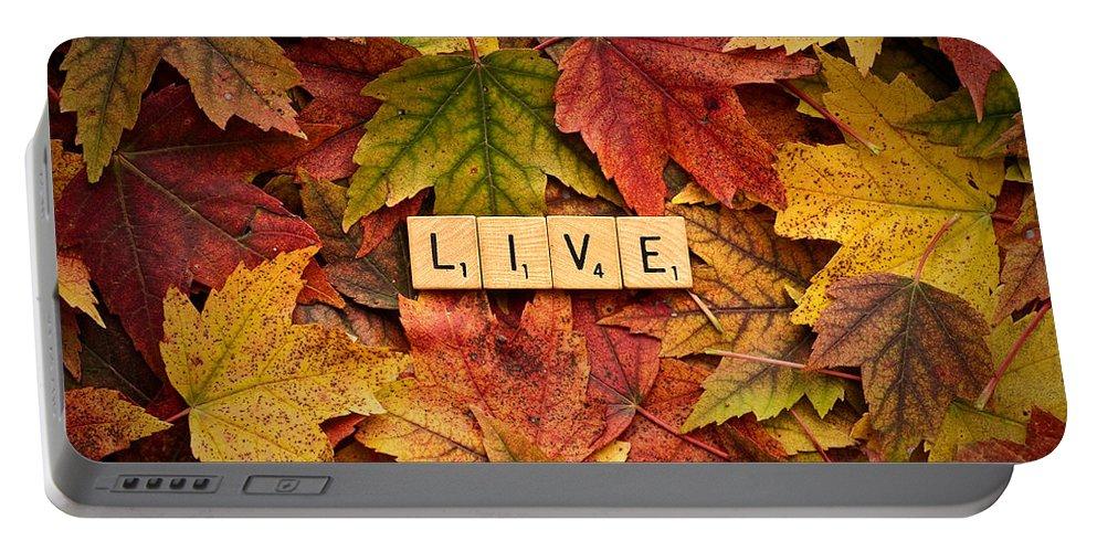 Daniel J. Kmiecik Portable Battery Charger featuring the photograph Live-autumn by Onyonet Photo Studios